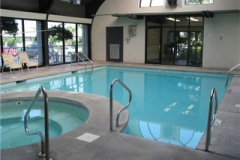The indoor pool at Pelican Pointe